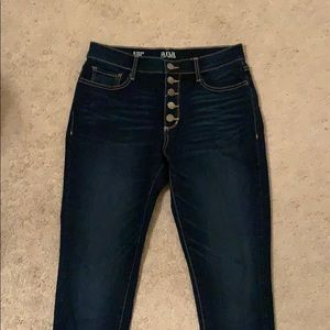 a.n.a high rise button fly skinny jeans